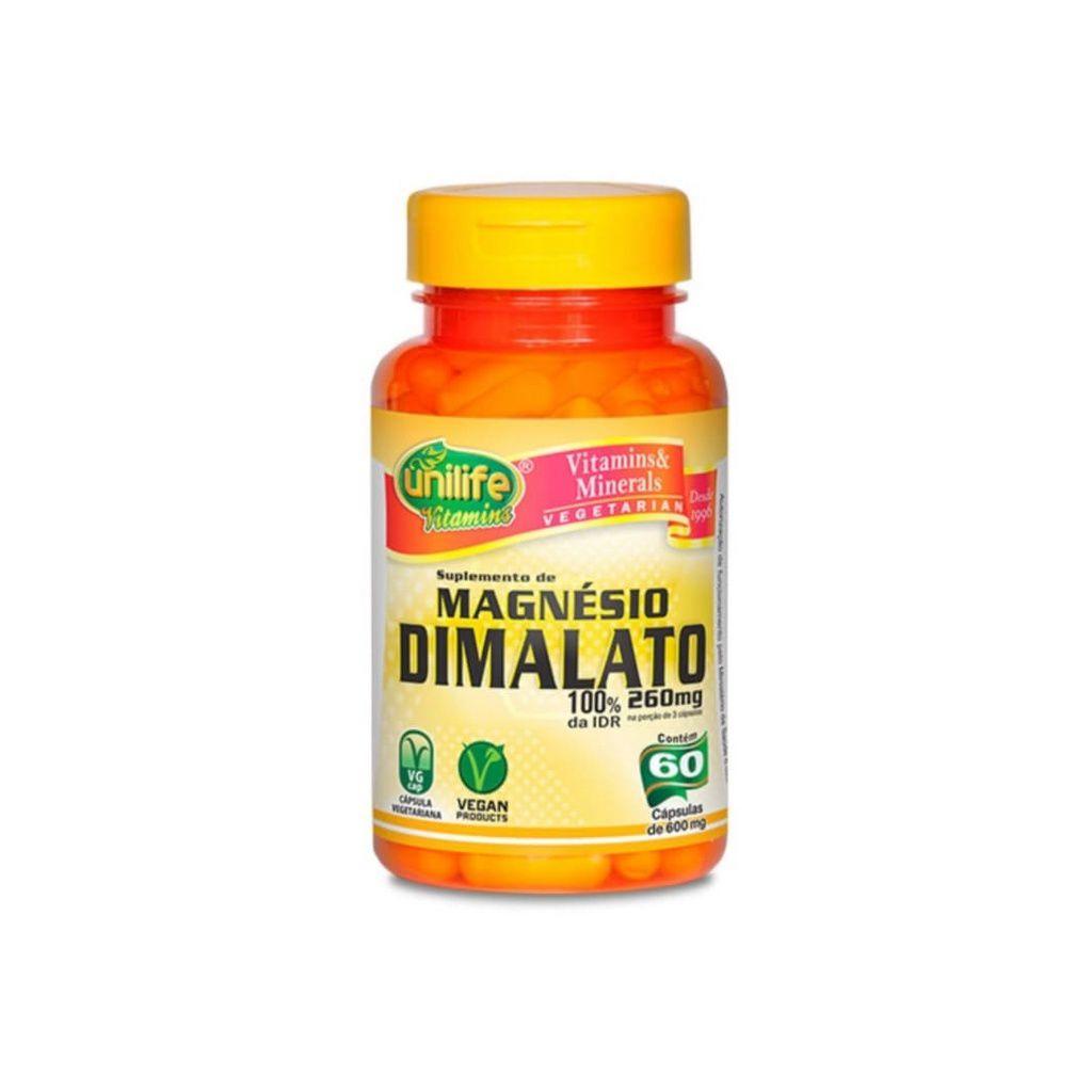 Magnésio Dimalato 60 cáps. Unilife