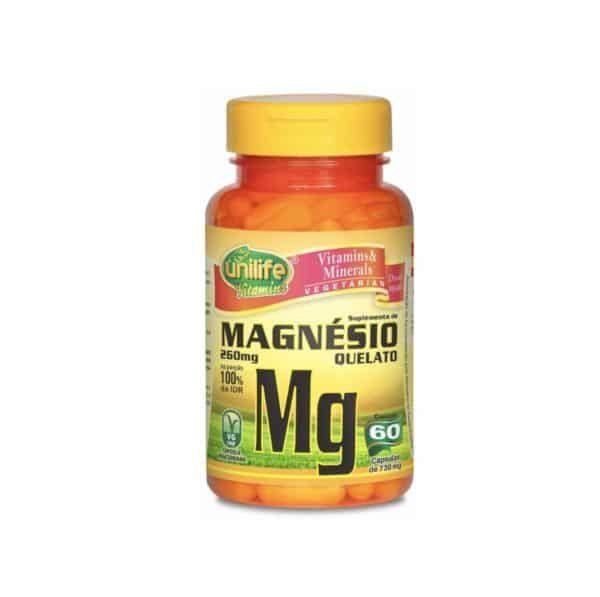 Magnésio Quelato 60 cáps. Unilife