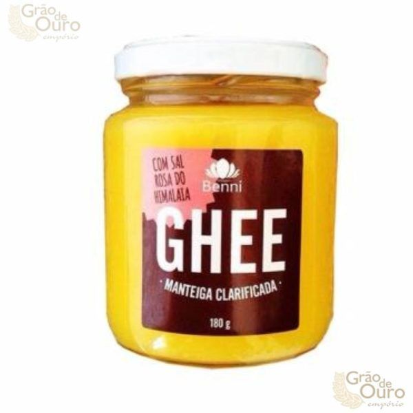Manteiga Ghee c/Sal Rosa 180g Benni