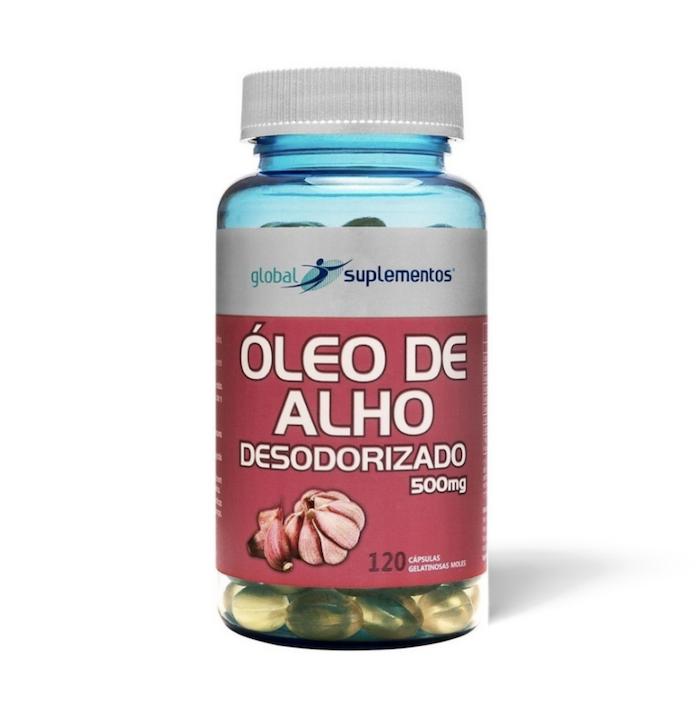Óleo de Alho Desodorizado 500 mg 120 caps Global