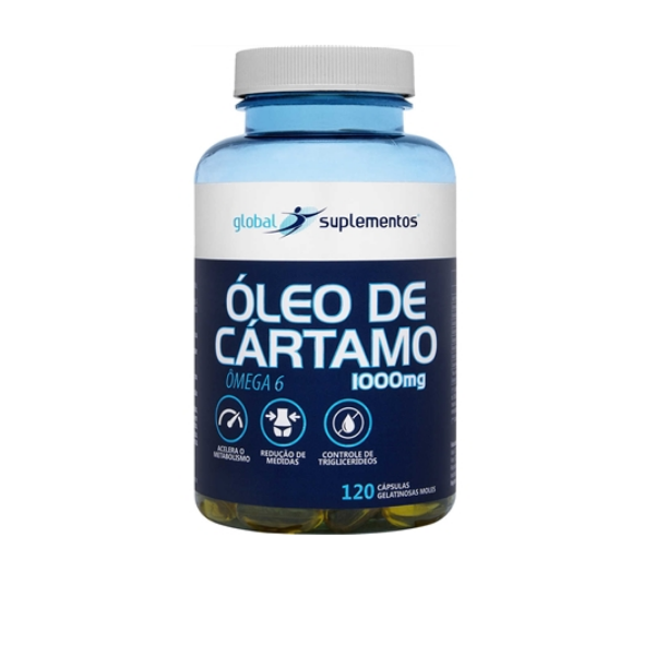 ÓLEO DE CÁRTAMO 1000MG 120 CAPS GLOBAL