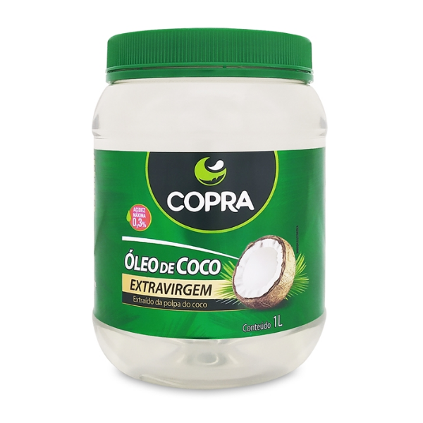 Óleo de Coco Extra Virgem Copra 1lt