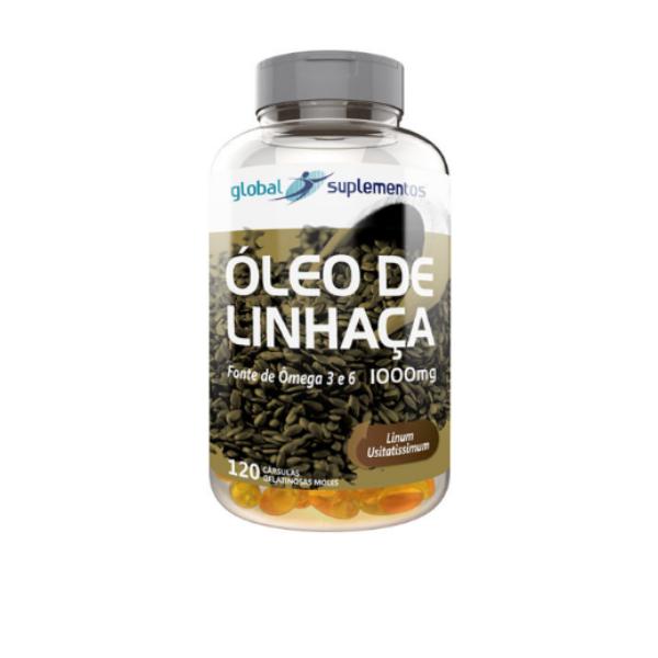 ÓLEO DE LINHAÇA 120 CAPS 1G GLOBAL NUTRITION