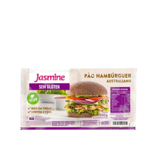 PAO DE HAMBURGUER AUSTRALIANO SEM GLUTEN 300G JASMINE