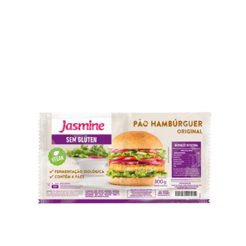 Pão de Hambúrguer sem Glúten 300g Jasmine