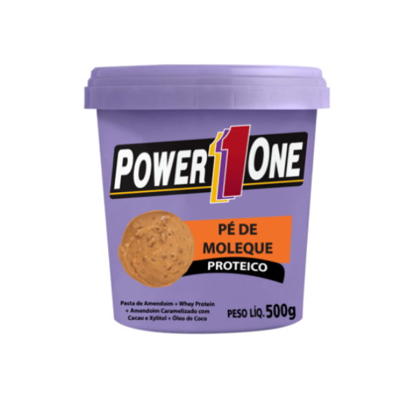 PASTA DE AMENDOIM PE DE MOLEQUE 500GR POWER ONE