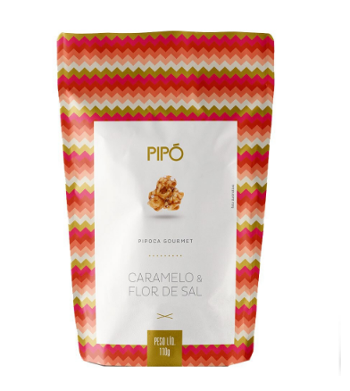 Pipo Pipoca Gourmet Caramelo/Flor de sal 100g