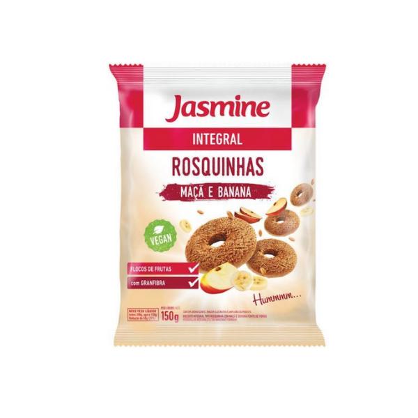Rosquinha Integral Maçã e Banana 150g Jasmine