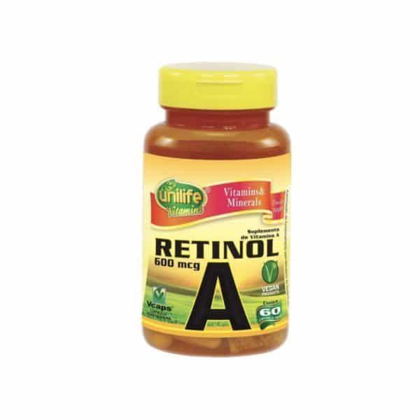 Vitamina A 60 cáps. Unilife