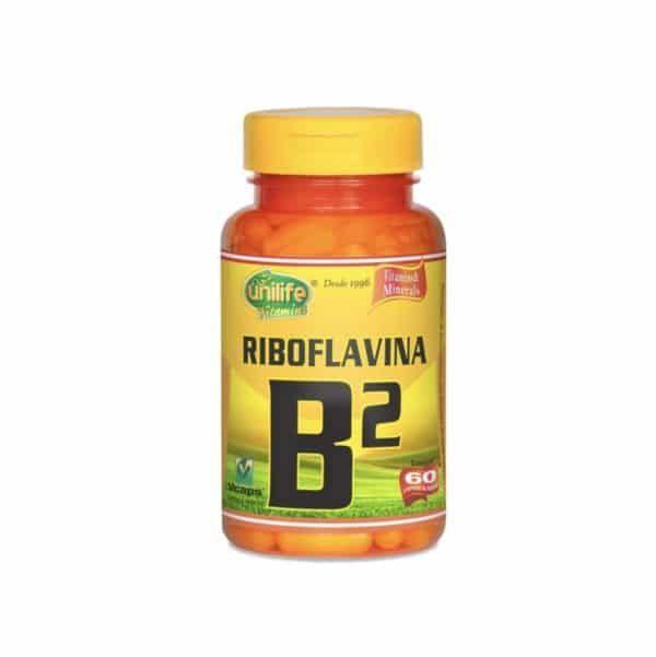 Vitamina B2 60 cáps. Unilife