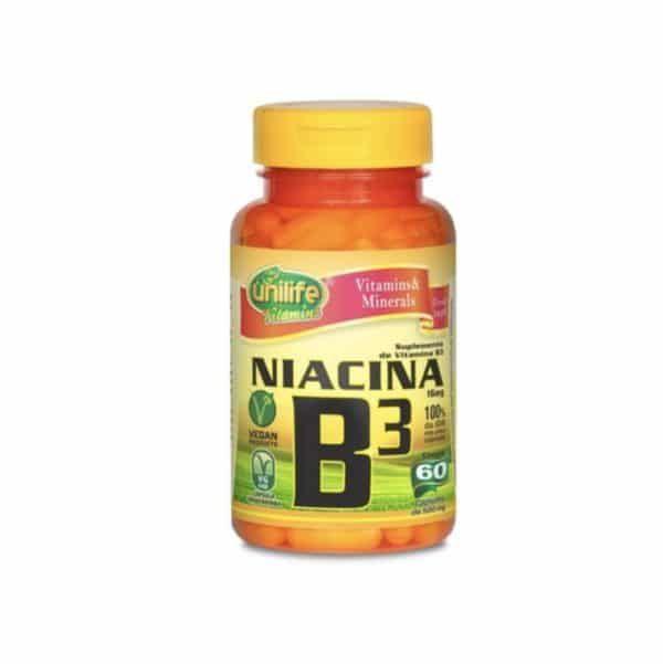 Vitamina B3 60 cáps. Unilife