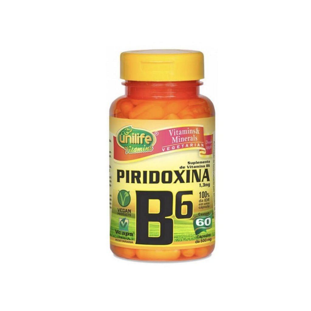 Vitamina B6 60 cáps. Unilife