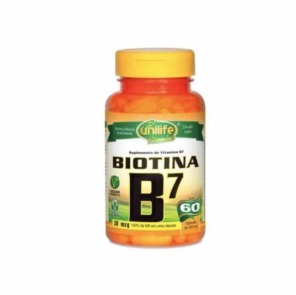Vitamina B7 60 cáps. Unilife