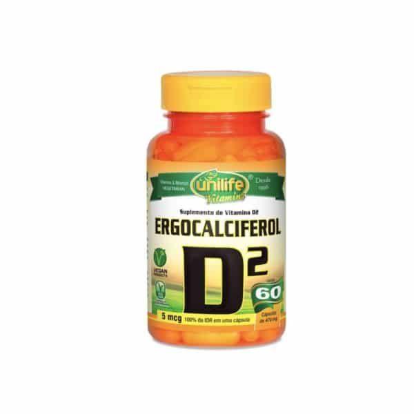 Vitamina D2 60 cáps. Unilife