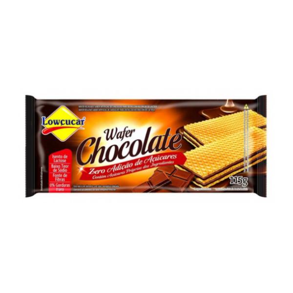Wafer Chocolate Zero Açúcar 115g Lowçucar
