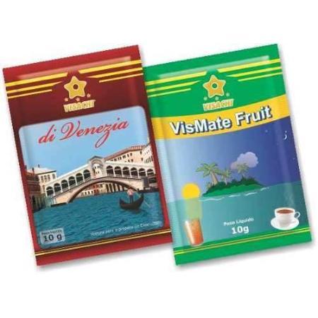 Caixa Personalizada Sortida Sachês di Venezia e VisMate Fruit - 100un  - Visachi Alimentos