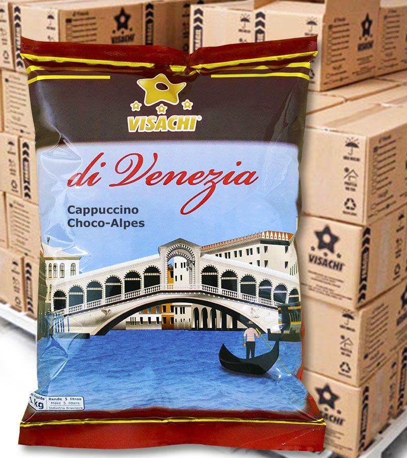 Cappuccino Choco-Alpes di Venezia Institucional - 1 kg  - Visachi Alimentos