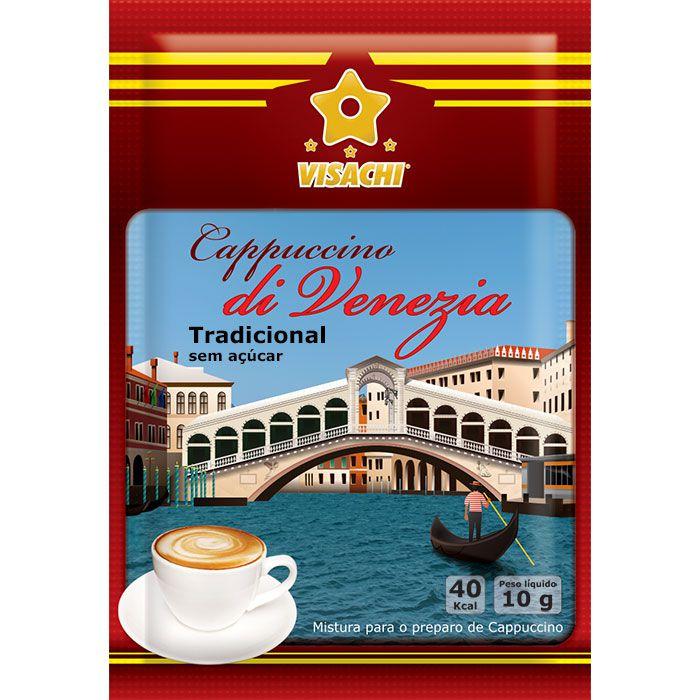 Cappuccino Tradicional sem açúcar di Venezia Sachês - 100 unidades  - Visachi Alimentos