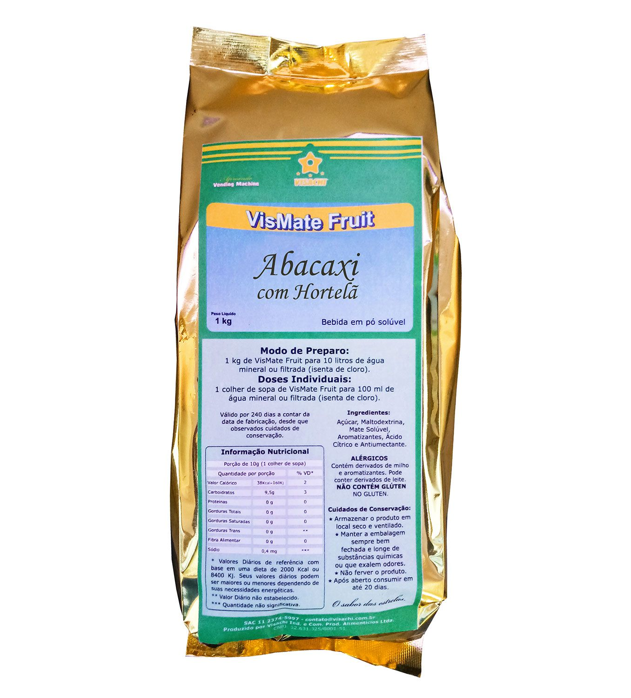 Chá Mate com Abacaxi e Hortelã VisMate Fruit Institucional - 900 g  - Visachi Alimentos