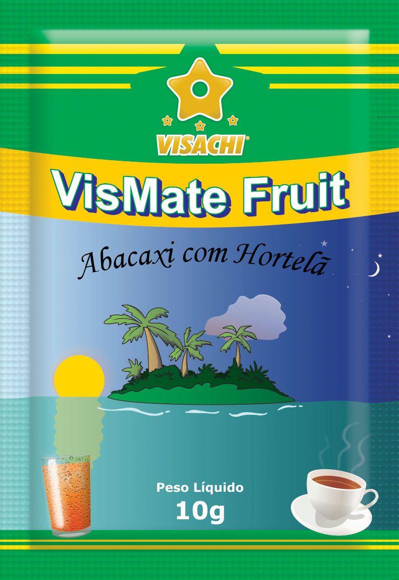 Chá Mate com Abacaxi e Hortelã VisMate Fruit Sachês - 100 unidades  - Visachi Alimentos