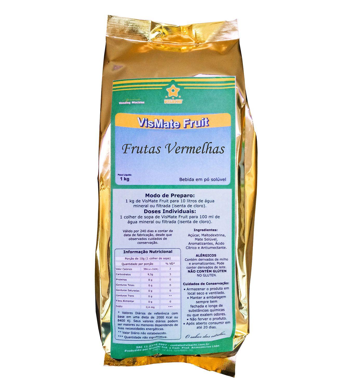 Chá Mate com Frutas Vermelhas VisMate Fruit Institucional - 900 g  - Visachi Alimentos