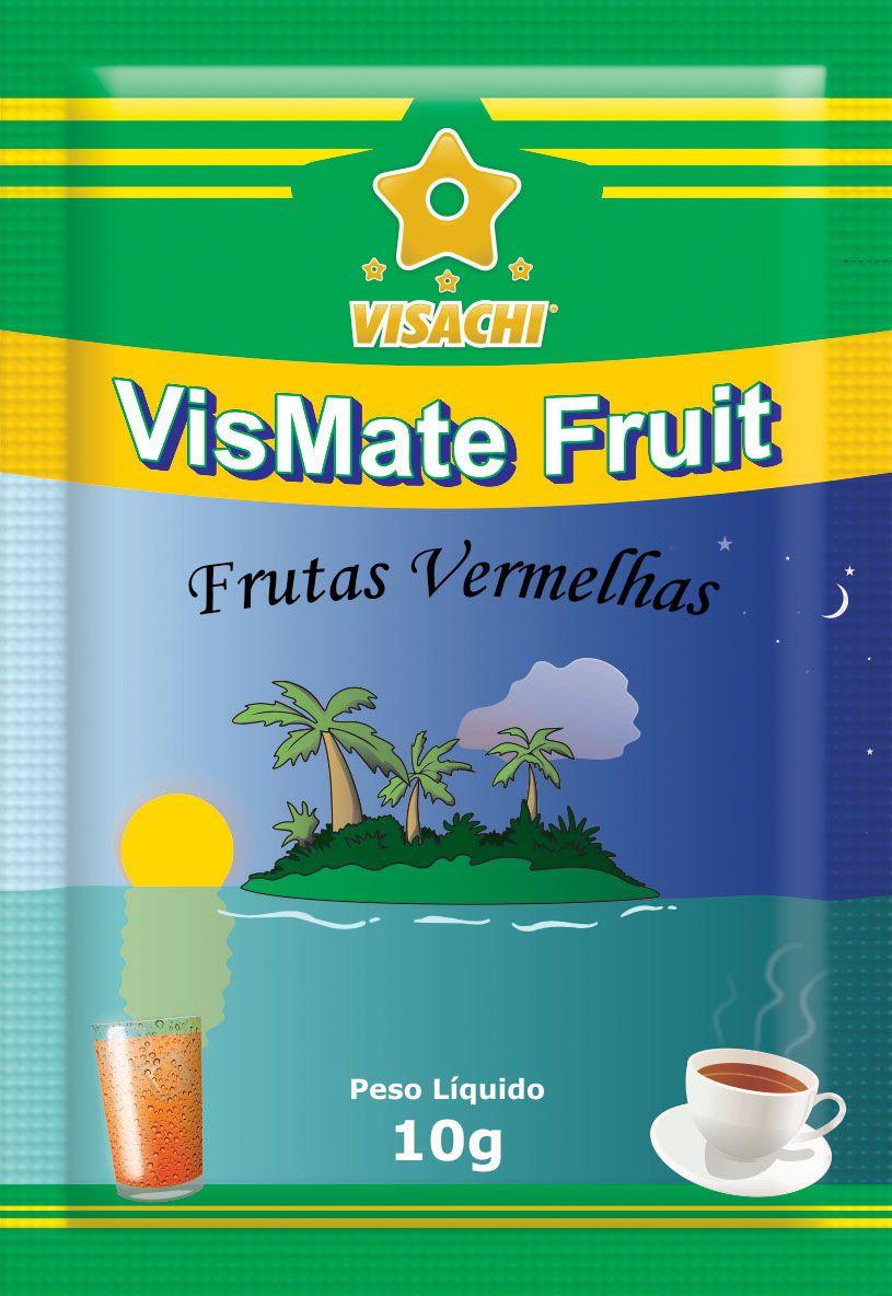 Chá Mate com Frutas Vermelhas VisMate Fruit Sachês - 100 unidades  - Visachi Alimentos