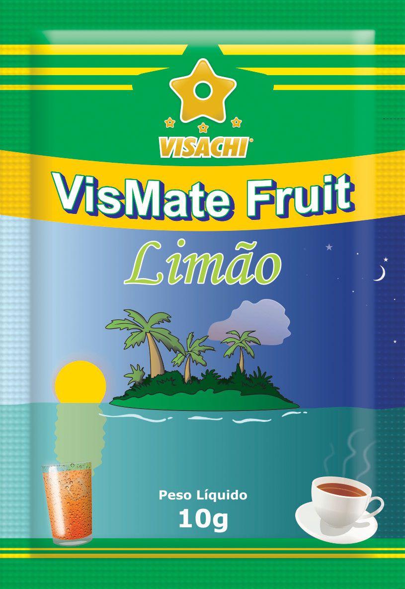 Chá Mate com Limão VisMate Fruit Sachês - 100 unidades  - Visachi Alimentos