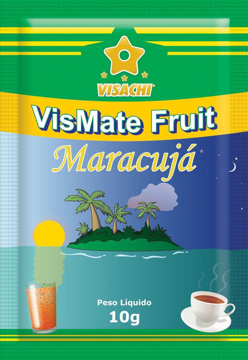 Chá Mate com Maracujá VisMate Fruit Sachês - 100 unidades  - Visachi Alimentos