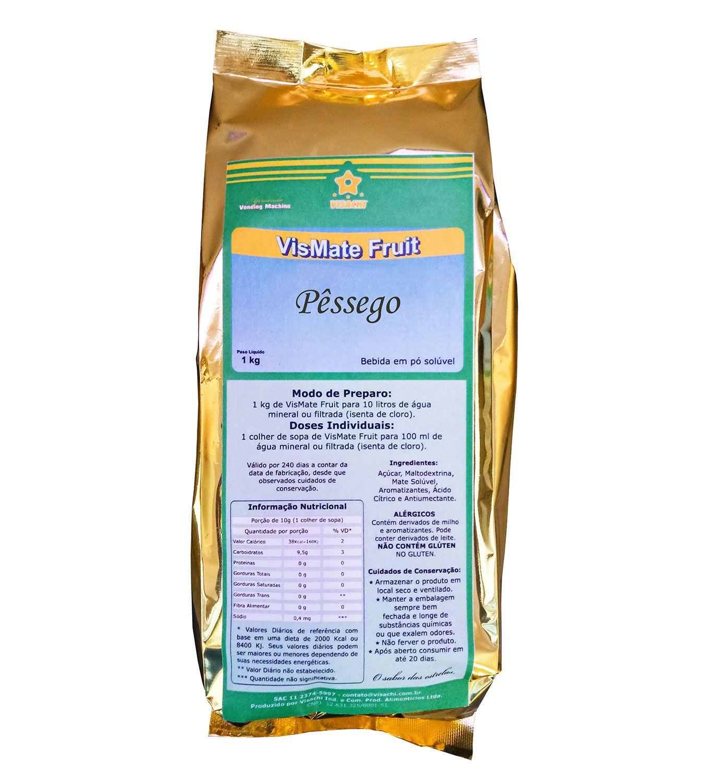 Chá Mate com Pêssego VisMate Fruit Institucional - 1 kg  - Visachi Alimentos