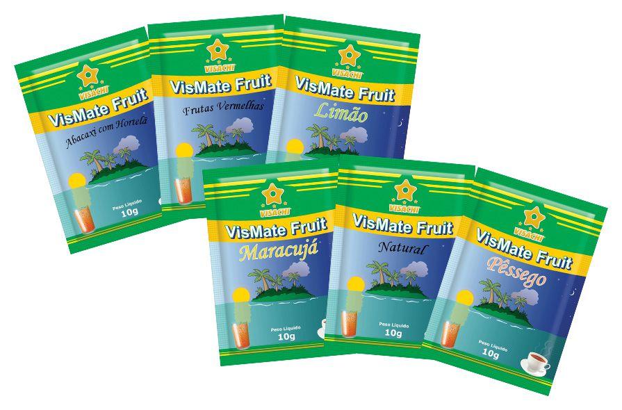 Kit Chás VisMate Fruit - 600 sachês variados  - Visachi Alimentos
