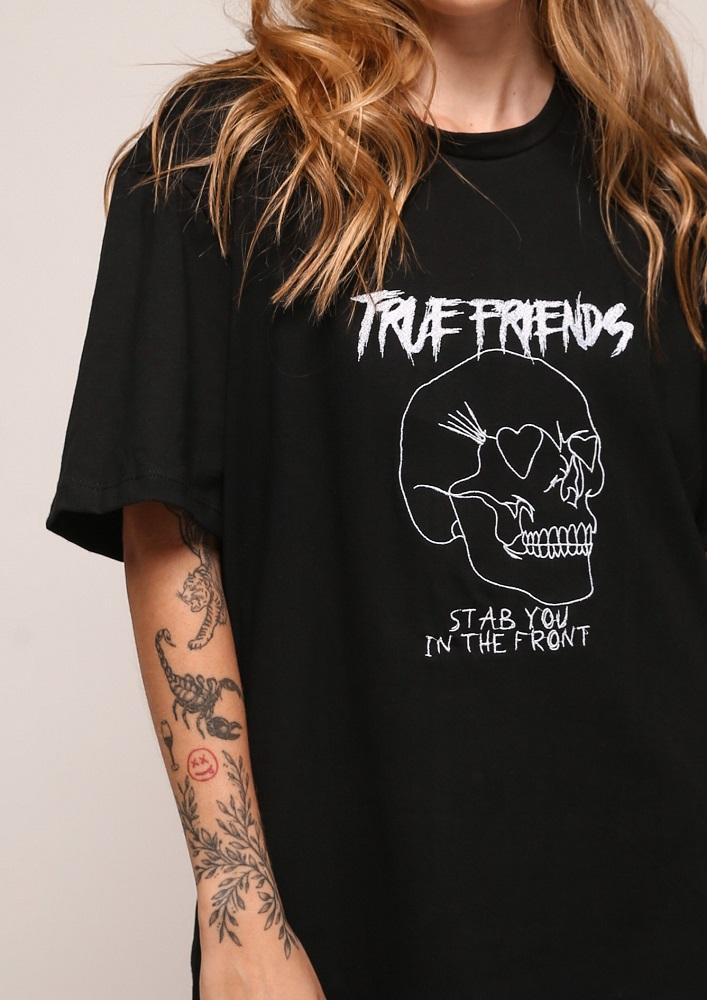 Camiseta Maxi True Preta