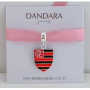 Berloque Flamengo Medalha Prata 925
