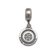 Berloque Medalha Engenharia Mecânica Prata 925