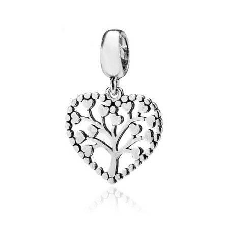 Berloque Árvore da Vida Coração Prata 925