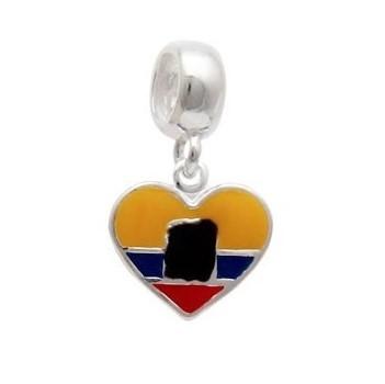 Berloque Bandeira Equador Prata 925