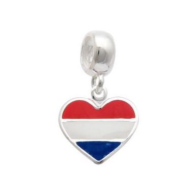 Berloque Bandeira Holanda Prata 925