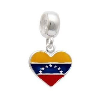 Berloque Bandeira Venezuela Prata 925