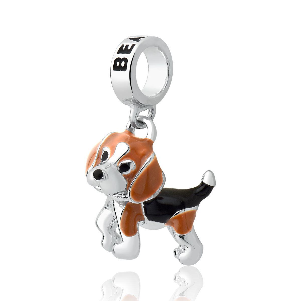 Berloque Cachorro Beagle Prata 925
