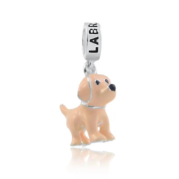 Berloque Cachorro Labrador Prata 925