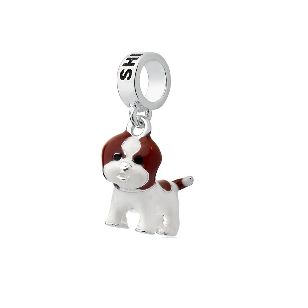 Berloque Cachorro Shih Tzu Prata 925