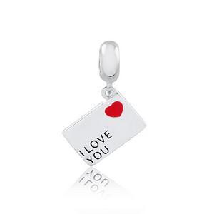 Berloque Carta de Amor Prata 925