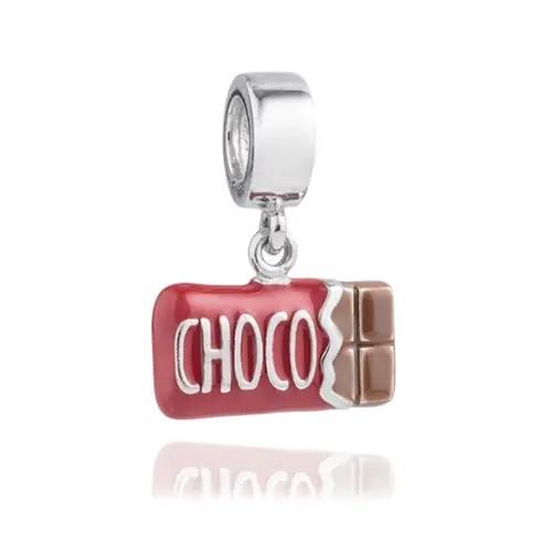 Berloque Chocolate Prata 925