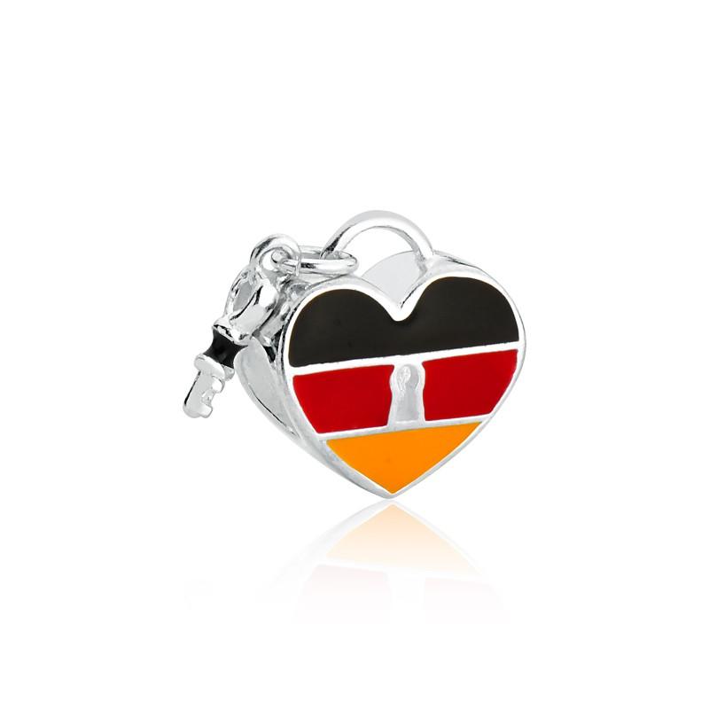 Berloque Coração Alemanha Prata 925