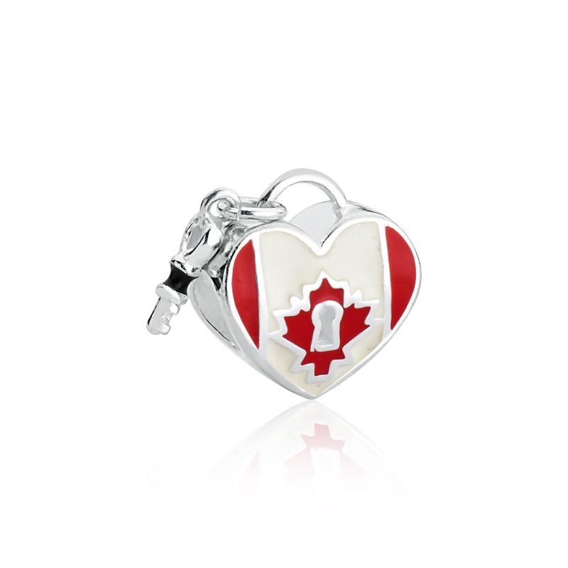 Berloque Coração Canadá Prata 925