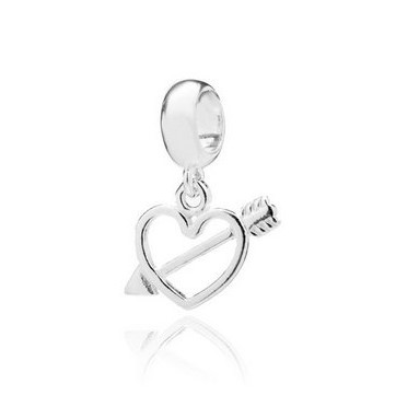 Berloque Coração Cupido Prata 925