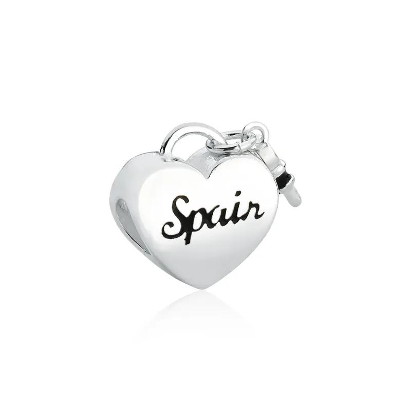 Berloque Coração Espanha Prata 925