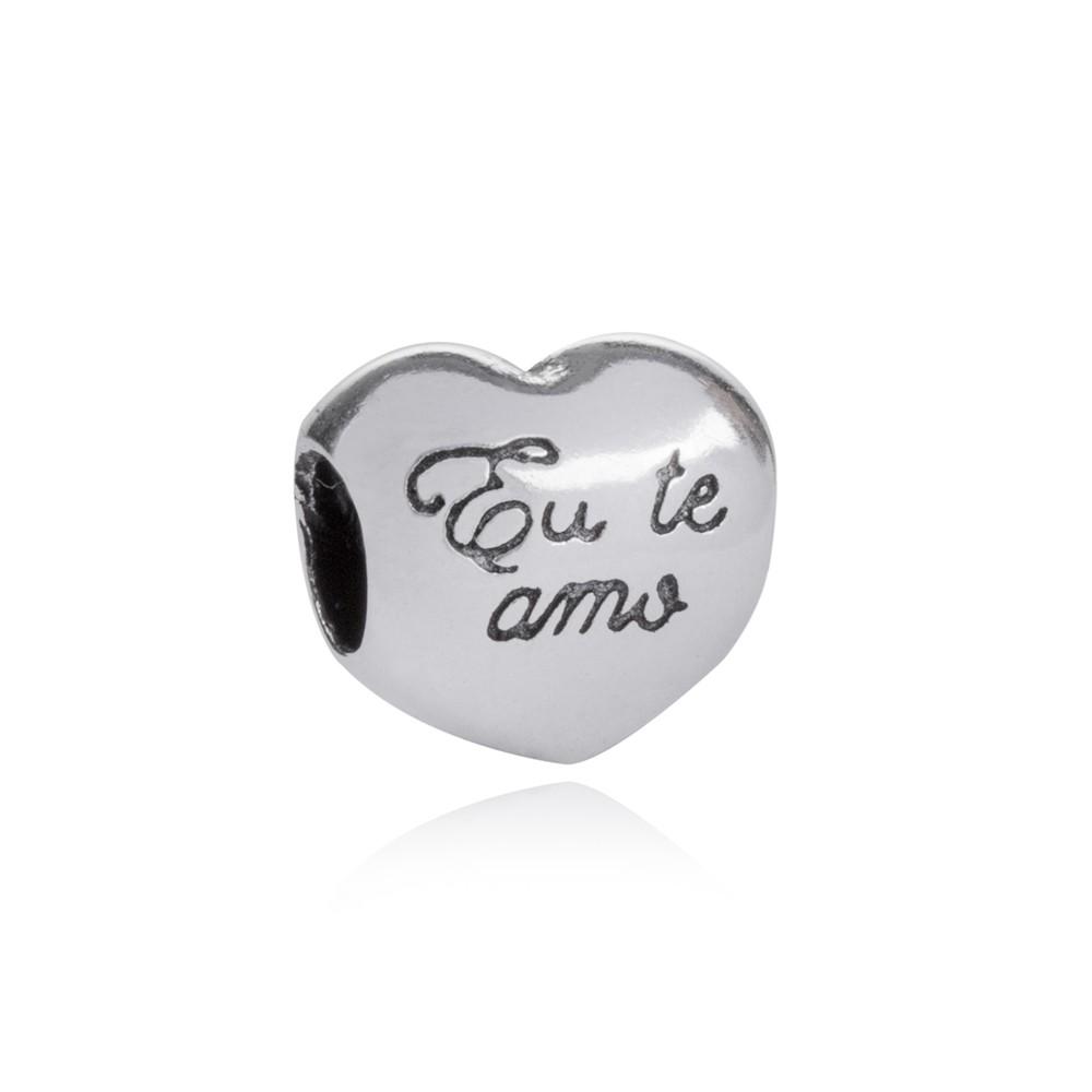 Berloque Coração Eu Te Amo Prata 925