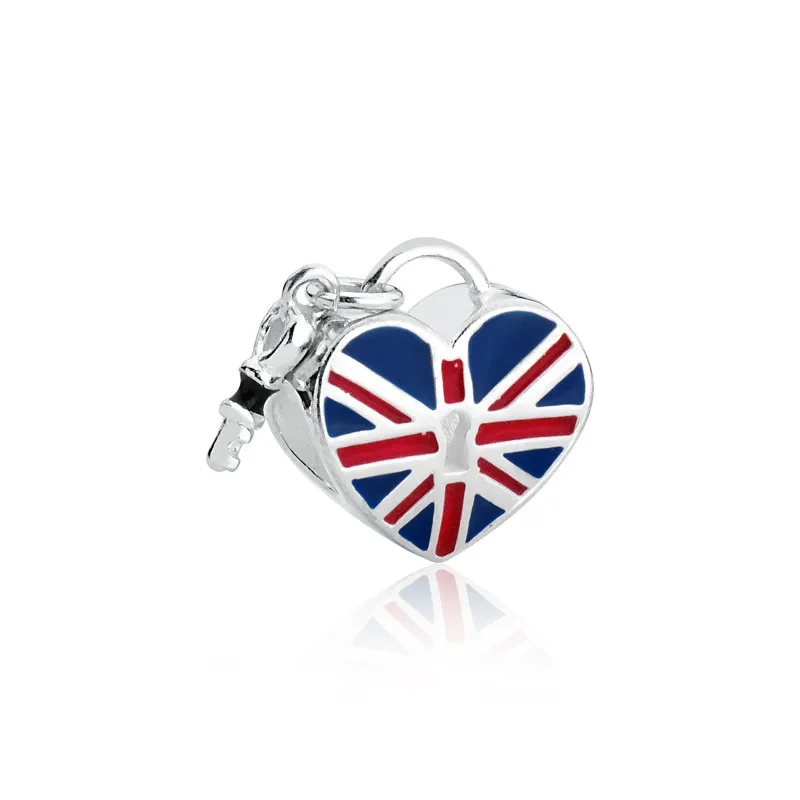 Berloque Coração Inglaterra Prata 925