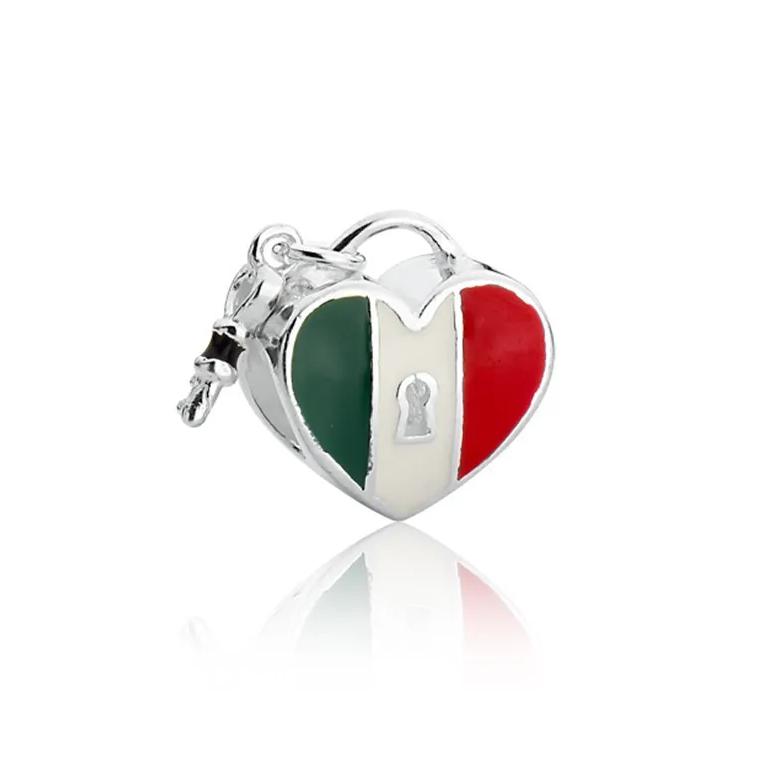 Berloque Coração Itália Prata 925