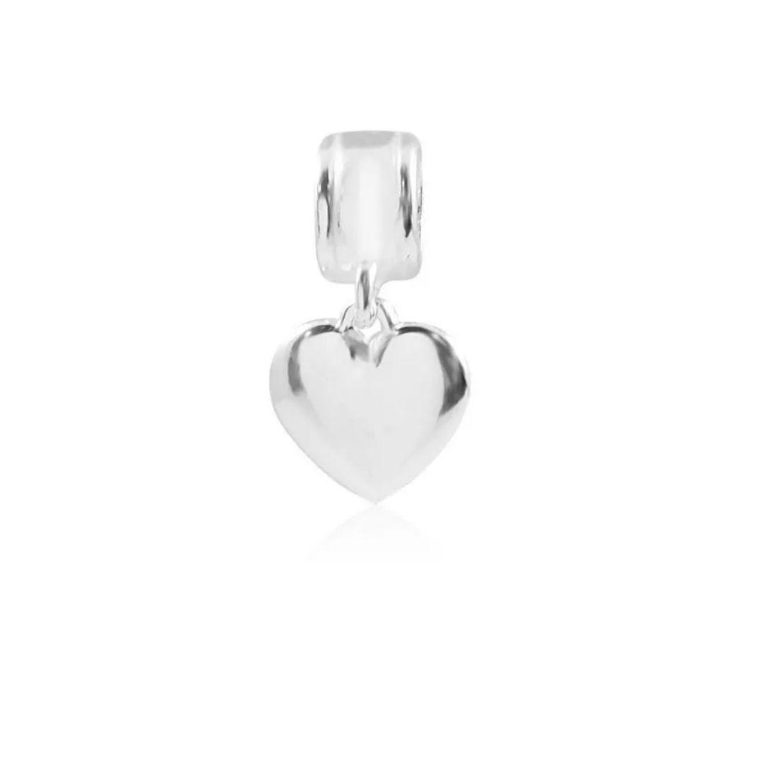 Berloque Coração Liso Prata 925